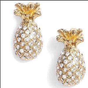 ✨NWT✨ Kate Spade Gold Pineapple Pave Stud Earrings
